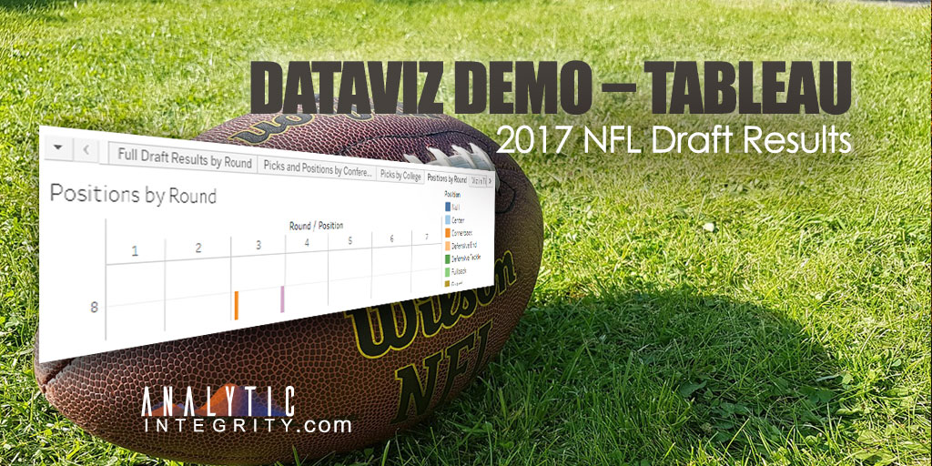 DataViz Demo – Tableau – 2017 NFL Draft Results
